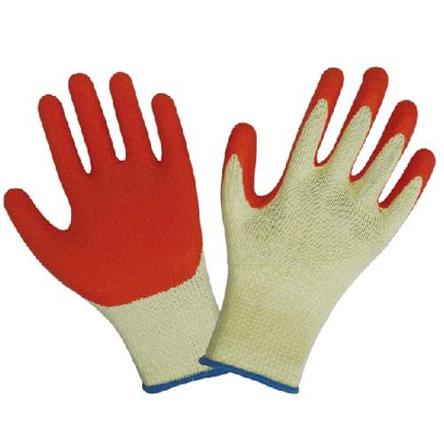 棉纱皱纹乳胶手套