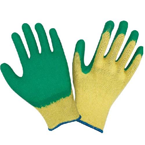 十针乳胶起皱手套