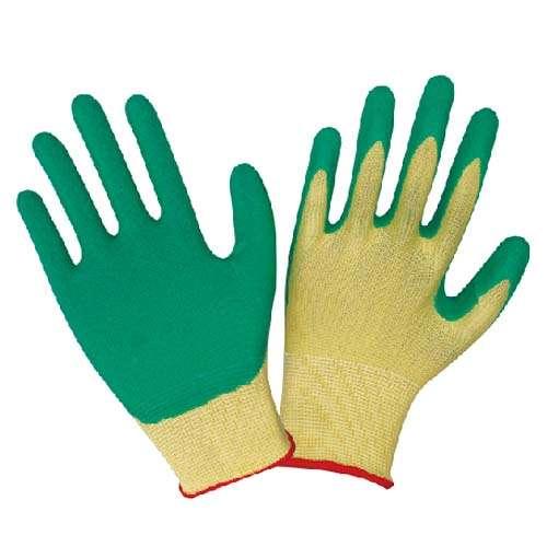 13针尼龙乳胶起皱手套