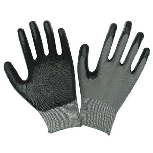 13针丁腈手套 灰纱黑胶