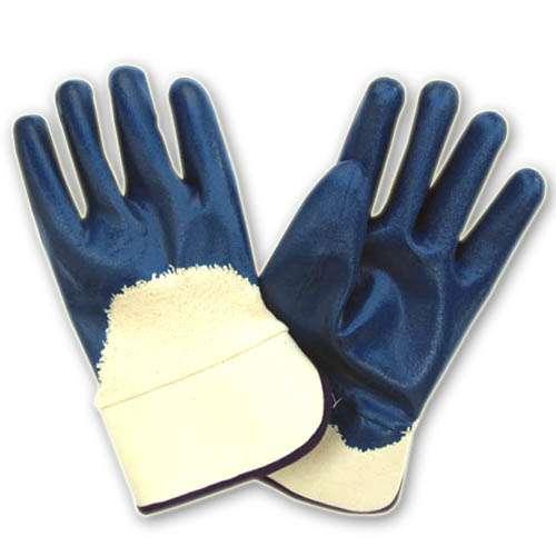 安全袖口棉毛布丁腈手套