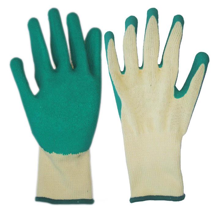 21针乳胶起皱手套