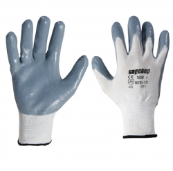 13针尼龙灰丁腈手套